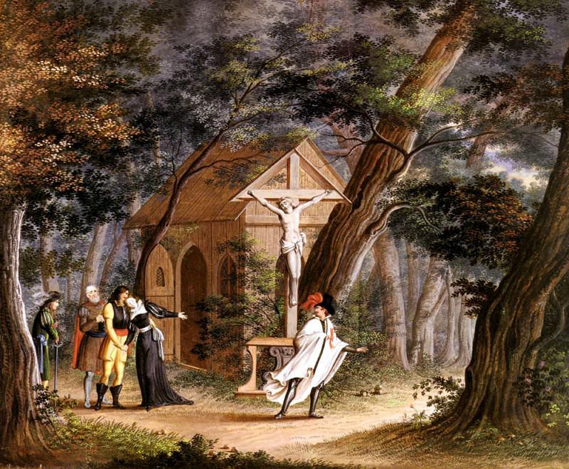 Карл Филипп Фор - Возлюбленная рыцаря умерла. Немецкие художники