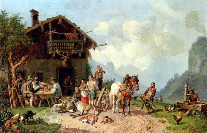 Burkel Heinrich After The Hunt. German artists