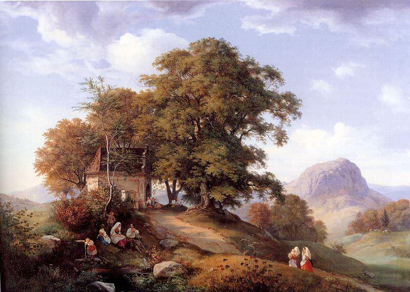 Oehme, Ernst Ferdinand (German, 1797-1855) 1. German artists