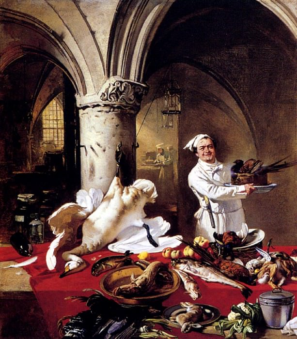 Hoguet Charles Les Preparatifs Du Festin. German artists