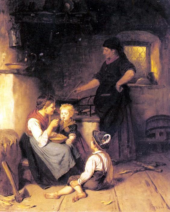 Epp Rudolf Feeding The Baby. German artists