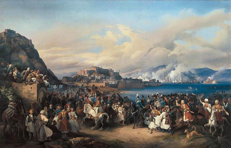 HESS Heinrich Maria von The Entry Of King Othon Of Greece Into Nauplia. German artists