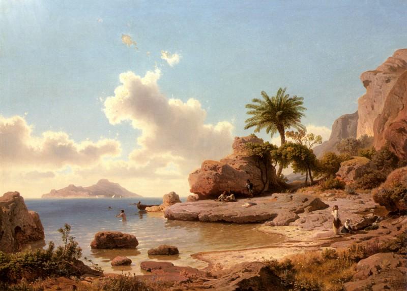 Flamm Albert Ansicht Von Capri. German artists
