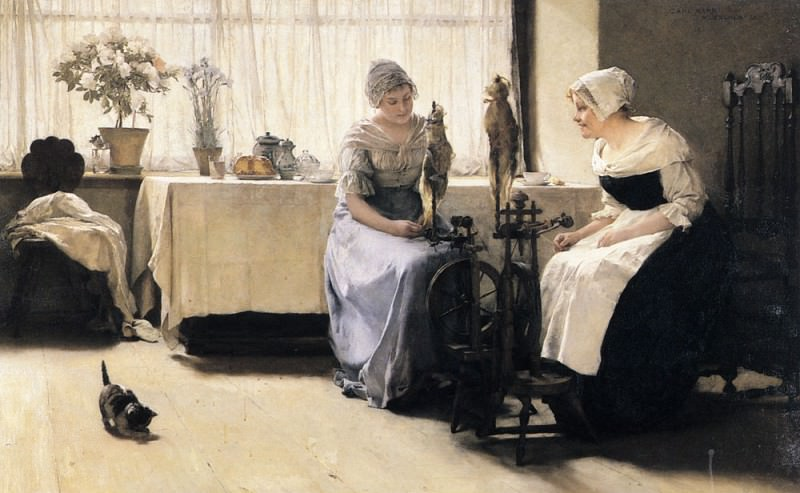 The Gossips. German artists