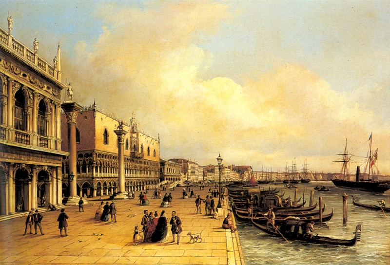 Grubacs Carlo A View Of The Doges Palace. German artists