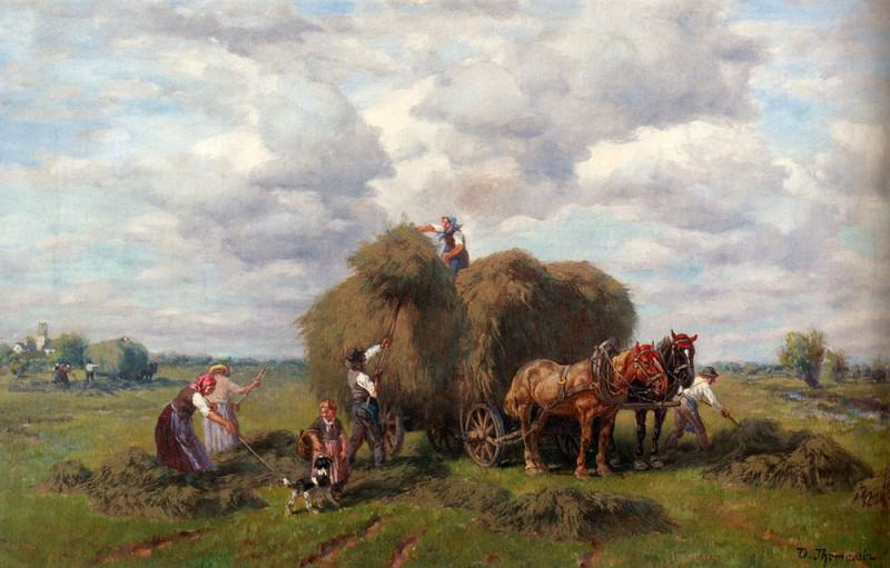 Thomassin Desire The Hay Harvest. Немецкие художники