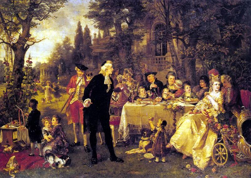 Herpfer Carl A Festive Gathering. Немецкие художники