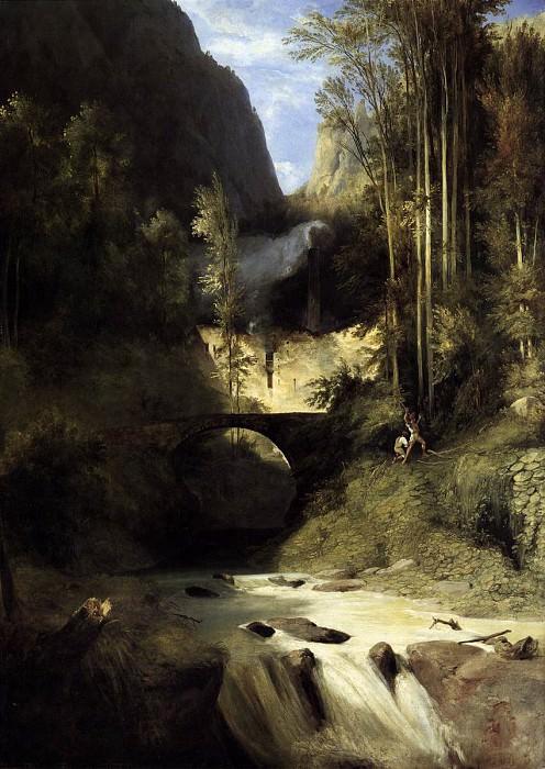 BLECHEN Karl Gorge At Amalfi. German artists
