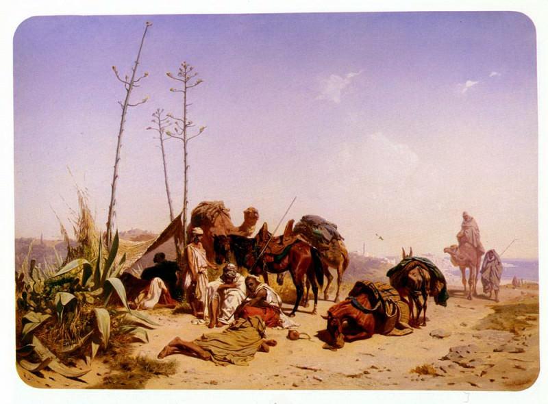 Horschelt Theodore Mittagruhe In Algier. German artists