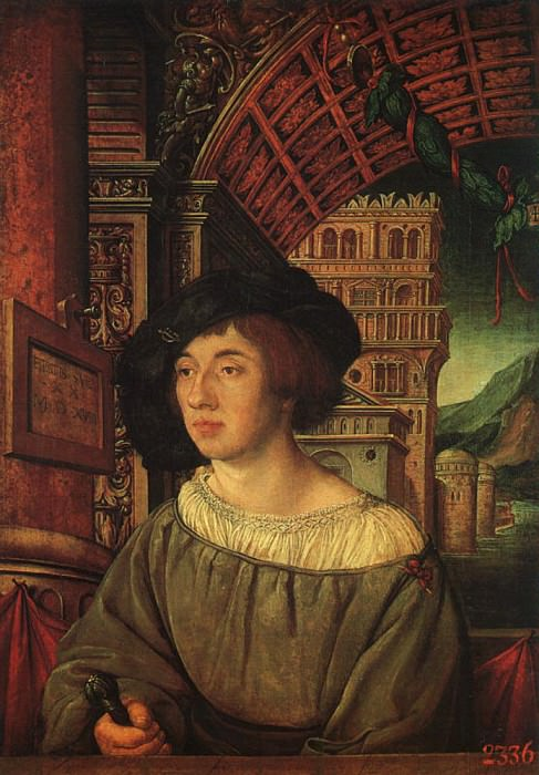 HOLBEIN Ambrosius Portrait Of A Young Man. German artists