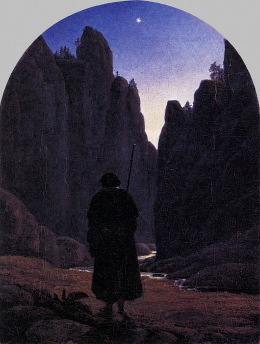 CARUS Carl Gustav Pilgrim In A Rocky Valley. German artists