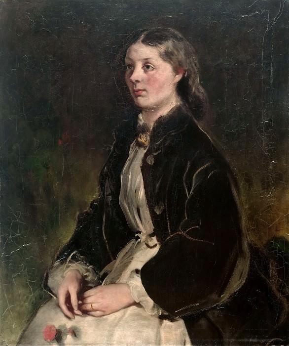 Ferdinand von Rayski (1807- 1890) - Portrait of Christine Freifrau von Schönberg. Alte und Neue Nationalgalerie (Berlin)