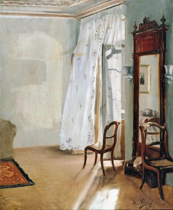 Менцель, Адольф фон (1815-1905) - Комната с балконом. Старая и Новая Национальные Галереи (Берлин)