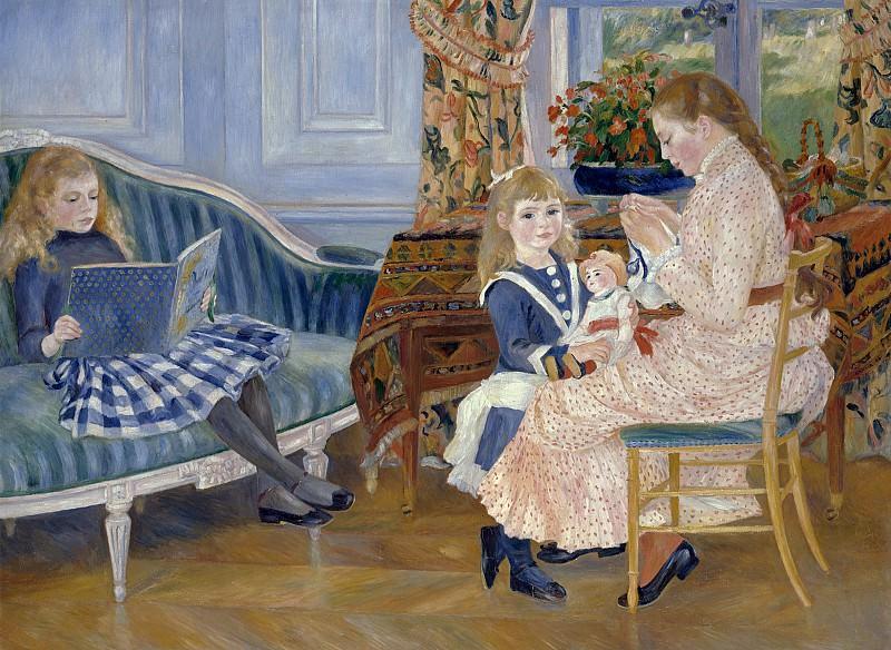 Pierre-Auguste Renoir (1841-1919) - Children's Afternoon at Wargemont. Alte und Neue Nationalgalerie (Berlin)