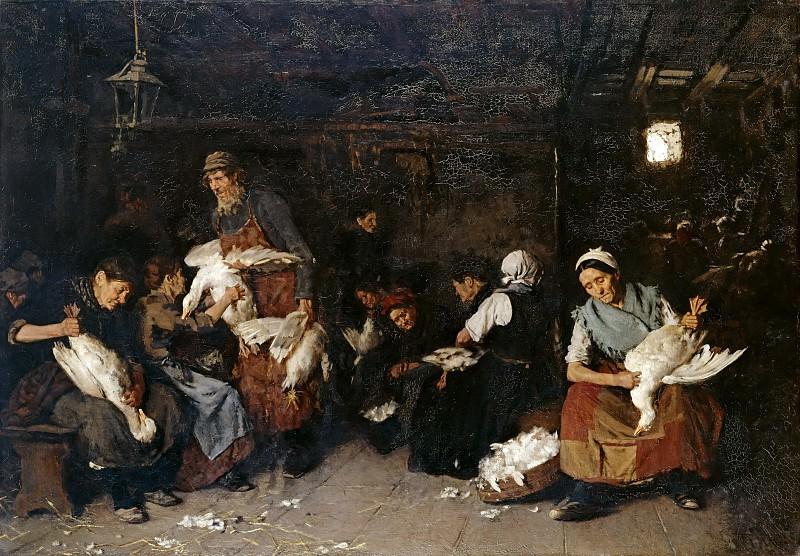 Max Liebermann (1847 - 1935) - Women Plucking Geese. Alte und Neue Nationalgalerie (Berlin)
