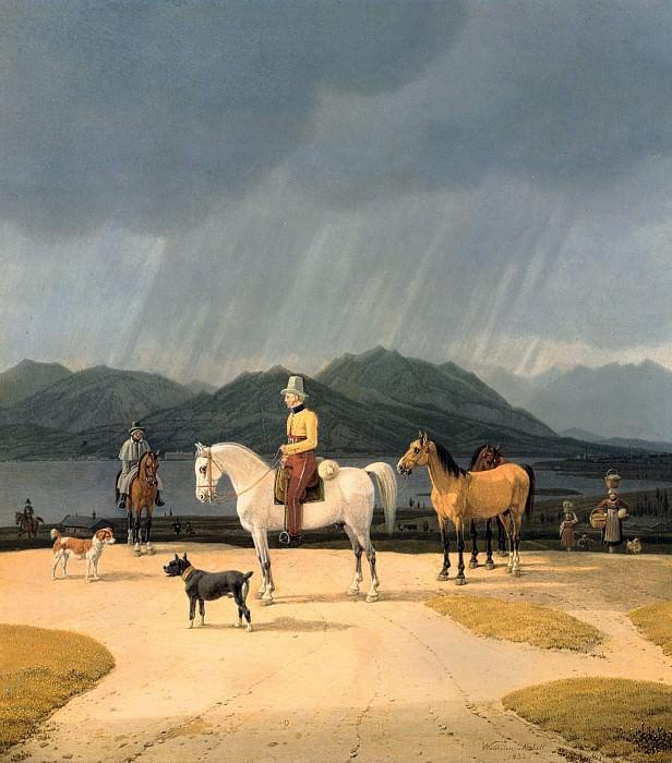 Wilhelm von Kobell (1766 - 1855) - Riders at the Tegernsee. Alte und Neue Nationalgalerie (Berlin)