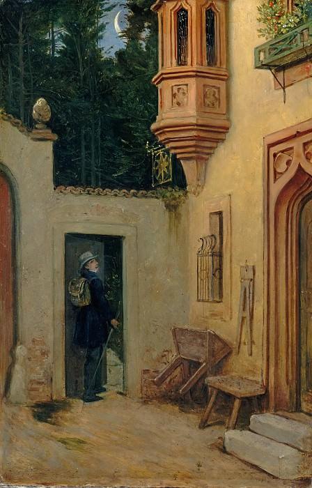 Швинд, Мориц фон (1804 - 1871) - Прощание на рассвете. Старая и Новая Национальные Галереи (Берлин)