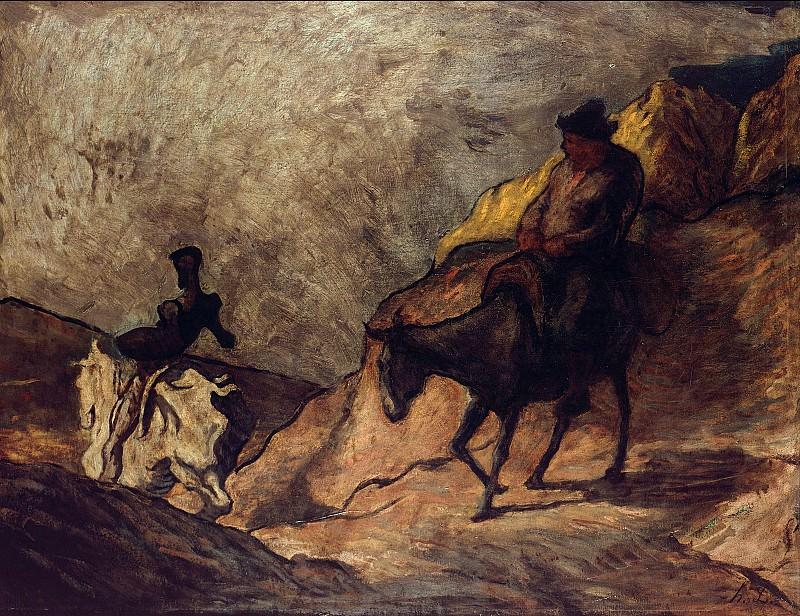 Домье, Оноре (1808-1879) - Дон Кихот и Санчо Панса. Старая и Новая Национальные Галереи (Берлин)