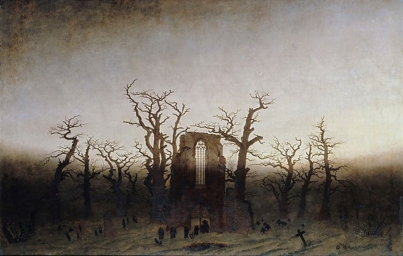 Caspar David Friedrich (1774 - 1840) - Abbey among Oak Trees. Alte und Neue Nationalgalerie (Berlin)
