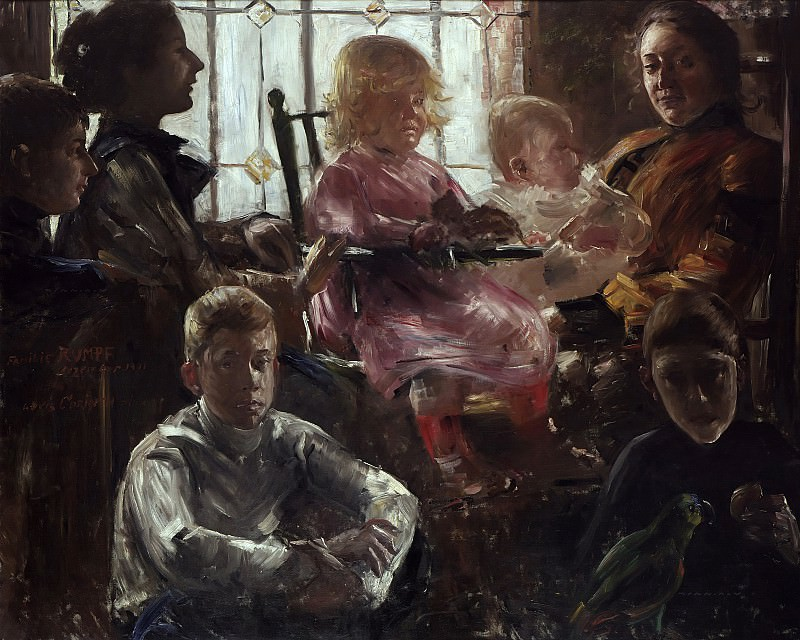 Lovis Corinth - The Family of the Painter Fritz Rumpf. Alte und Neue Nationalgalerie (Berlin)