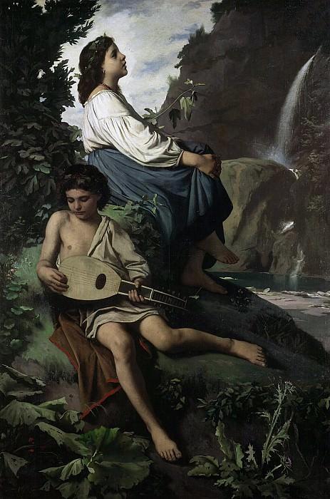 Anselm Feuerbach (1829 - 1880) - Memory about Tivoli. Alte und Neue Nationalgalerie (Berlin)