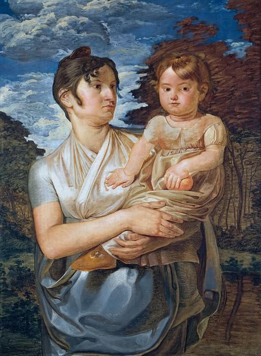 Рунге, Филипп Отто (1777 - 1810) - Полина Рунге с двухлетним сыном. Старая и Новая Национальные Галереи (Берлин)