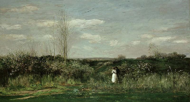 Добиньи, Шарль-Франсуа (1817-1878) - Весенний пейзаж. Старая и Новая Национальные Галереи (Берлин)
