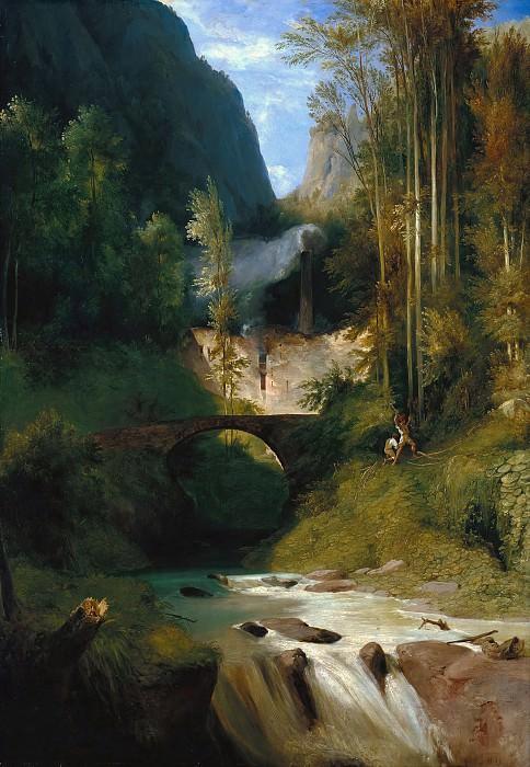 Блехен, Карл (1798-1840) - Ущелье близ Амальфи. Старая и Новая Национальные Галереи (Берлин)