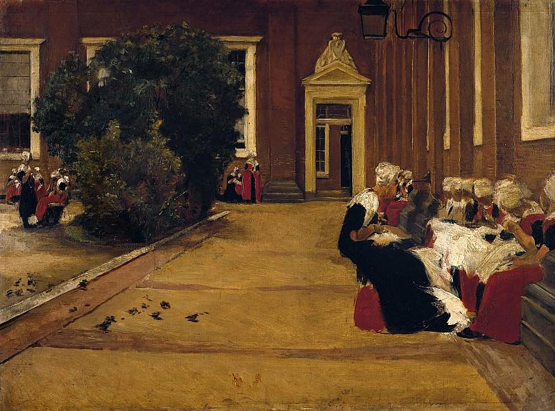 Max Liebermann (1847 - 1935) - Orphan Girls in Amsterdam. Alte und Neue Nationalgalerie (Berlin)