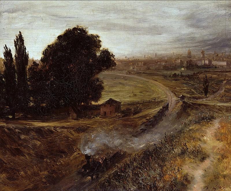 Менцель, Адольф фон (1815-1905) - Железная дорога Берлин-Потсдам. Старая и Новая Национальные Галереи (Берлин)