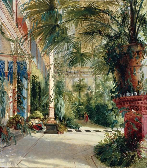 Блехен, Карл (1798-1840) - Интерьер Пальмового дома. Старая и Новая Национальные Галереи (Берлин)