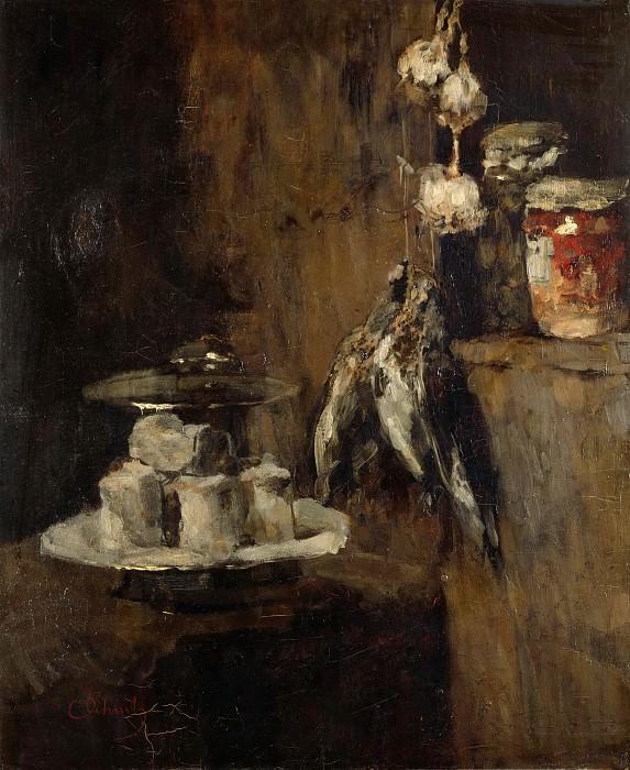 Carl Schuch (1846 - 1903) - Still Life with Partridges and Cheese. Alte und Neue Nationalgalerie (Berlin)