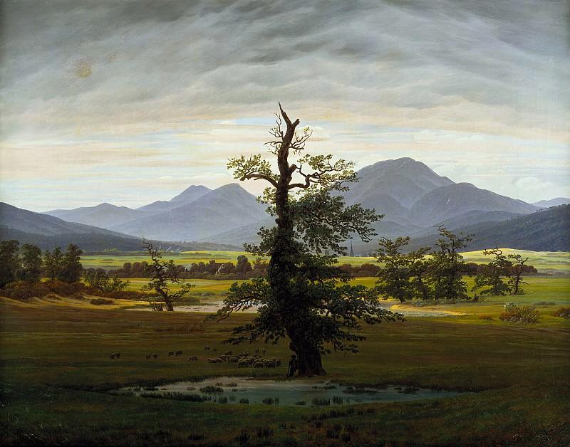 Caspar David Friedrich (1774 - 1840) - Solitary Tree. Alte und Neue Nationalgalerie (Berlin)