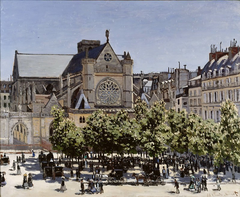 Claude Monet (1840-1926) - St. Germain l'Auxerrois. Alte und Neue Nationalgalerie (Berlin)