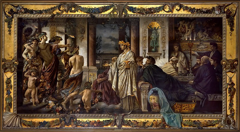Anselm Feuerbach (1829 - 1880) - The Symposium (Second Version). Alte und Neue Nationalgalerie (Berlin)