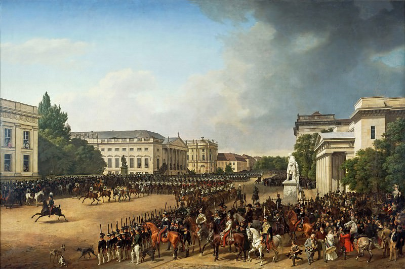 Крюгер, Франц (1797 - 1857) - Военный парад на Оперной площади в Берлине. Старая и Новая Национальные Галереи (Берлин)