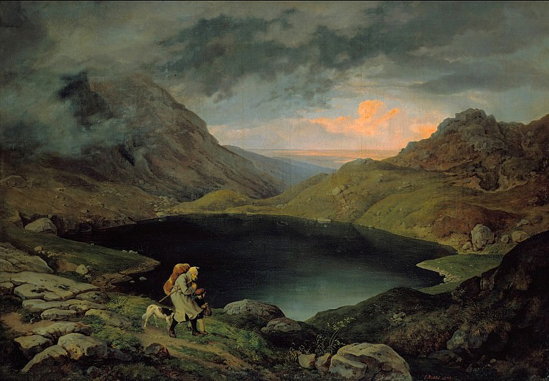 Ludwig Richter (1803-1884) - Lake in the Riesengebirge. Alte und Neue Nationalgalerie (Berlin)