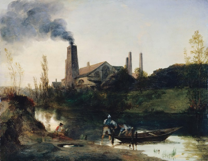Блехен, Карл (1798-1840) - Фабрика железопроката в Нойштадт-Эберсвальде. Старая и Новая Национальные Галереи (Берлин)