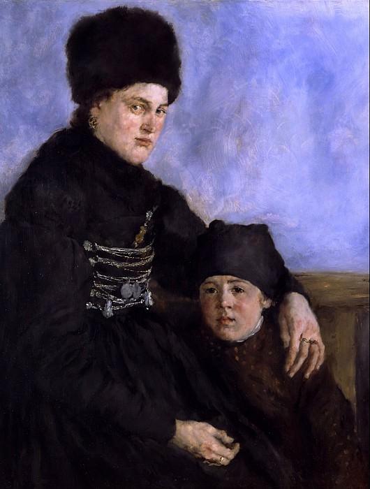 Wilhelm Leibl (1844 - 1900) - Dachau Woman and Child. Alte und Neue Nationalgalerie (Berlin)