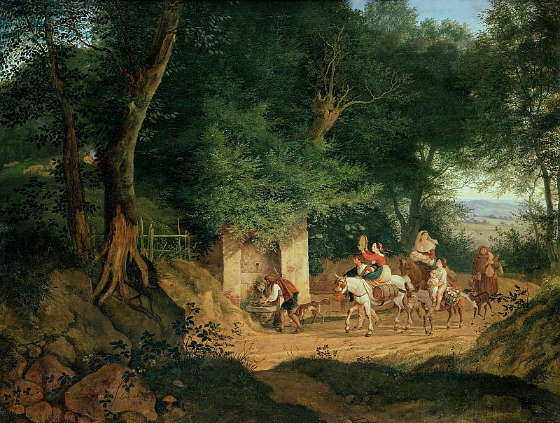 Ludwig Richter (1803-1884) - The Well in the Wood at Ariccia. Alte und Neue Nationalgalerie (Berlin)