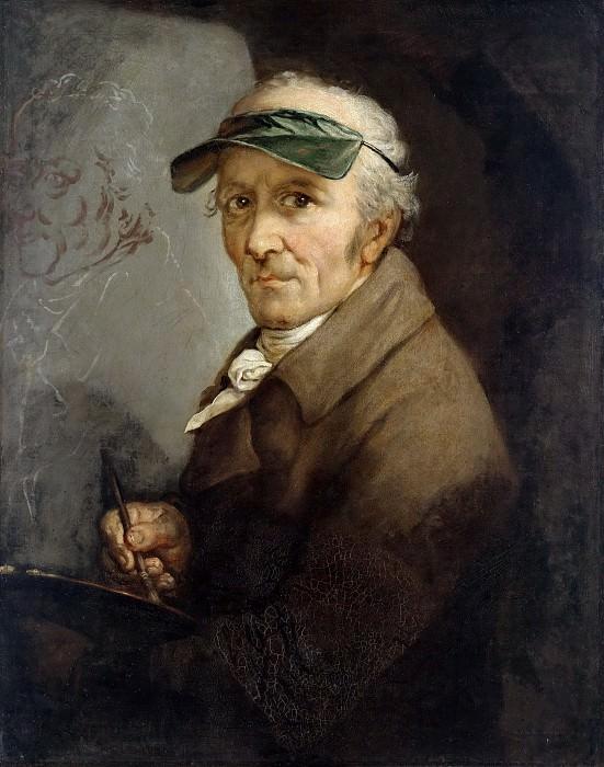 Граф, Антон (1736 - 1813) - Автопортрет с козырьком. Старая и Новая Национальные Галереи (Берлин)