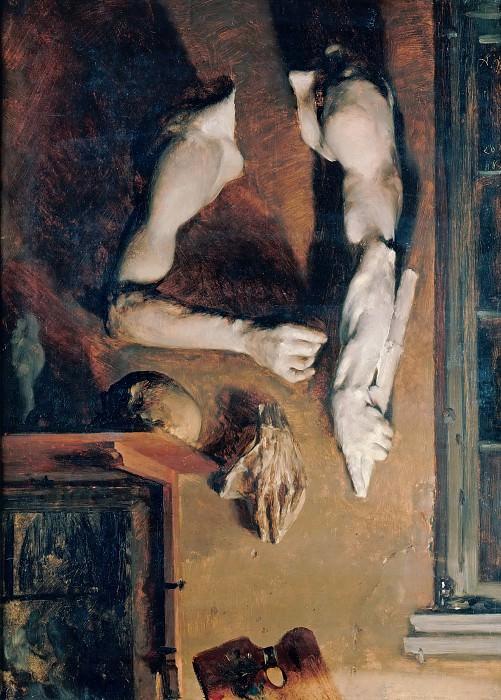 Adolph von Menzel (1815-1905) - Studio Wall. Alte und Neue Nationalgalerie (Berlin)