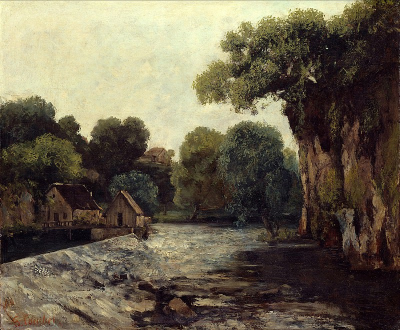 Gustave Courbet (1819 1877) - The Weir at the Mill. Alte und Neue Nationalgalerie (Berlin)