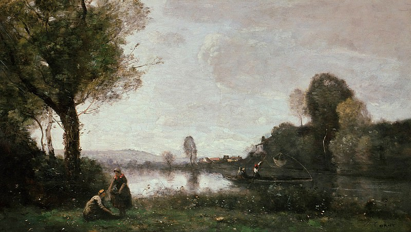 Jean-Baptiste-Camille Corot (1796-1875) - River Landscape - The Seine near Paris. Alte und Neue Nationalgalerie (Berlin)