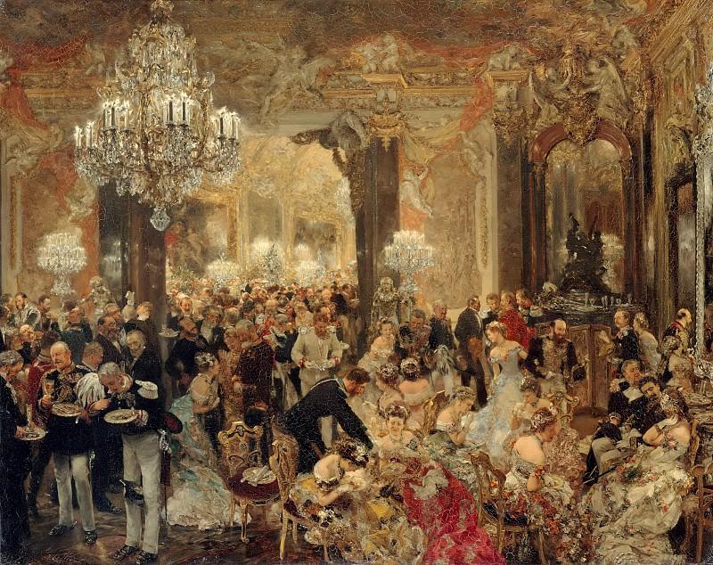 Adolph von Menzel (1815-1905) - The Supper at the Ball. Alte und Neue Nationalgalerie (Berlin)