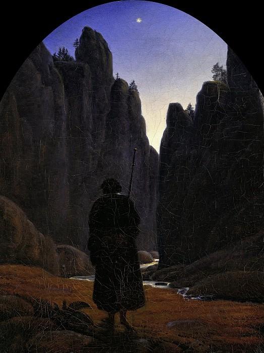 Карус, Карл Густав (1789 - 1869) - Пилигрим в горном ущелье. Старая и Новая Национальные Галереи (Берлин)