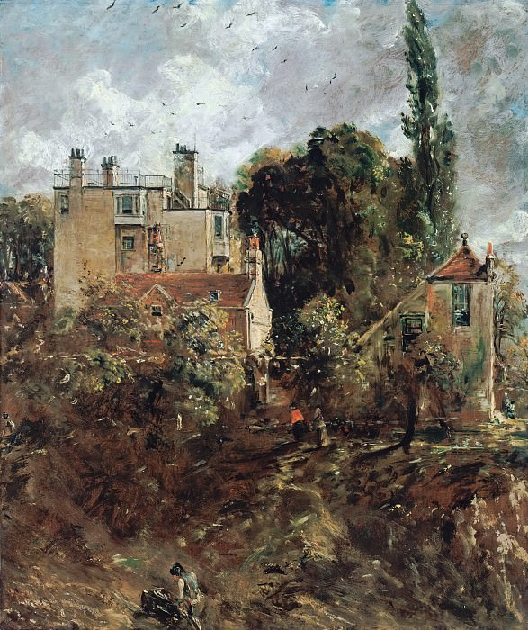 John Constable (1776-1837) - The Grove, or the Admiral's House in Hampstead. Alte und Neue Nationalgalerie (Berlin)