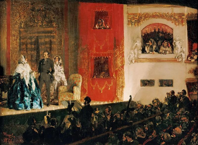Adolph von Menzel (1815-1905) - The Théâtre du Gymnasein Paris. Alte und Neue Nationalgalerie (Berlin)