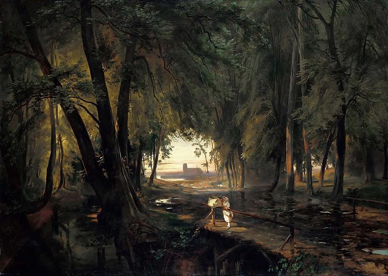 Carl Blechen (1798-1840) - Forest path near Spandau. Alte und Neue Nationalgalerie (Berlin)