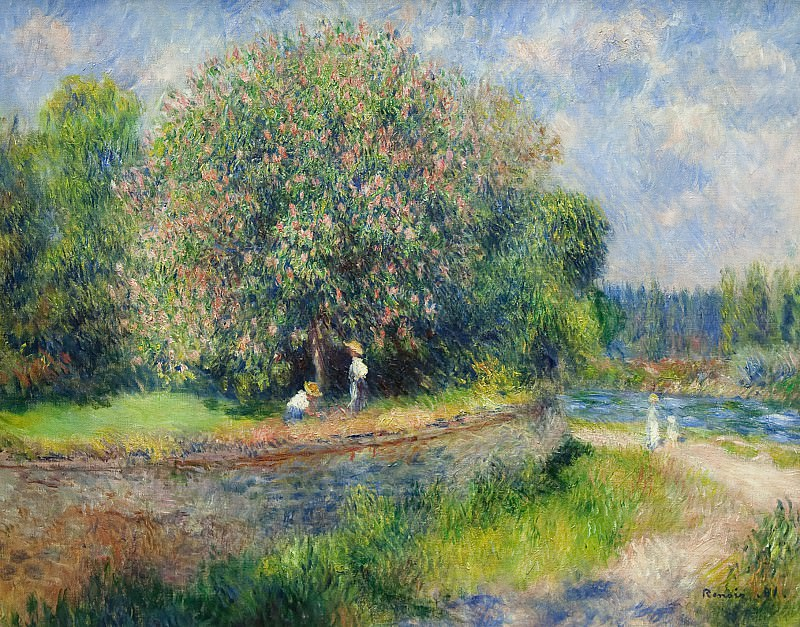 Pierre-Auguste Renoir (1841-1919) - Chestnut Tree in Bloom. Alte und Neue Nationalgalerie (Berlin)